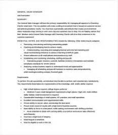 General Description Template by 11 General Manager Description Templates Free