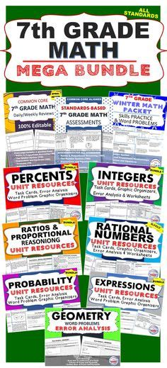 resources for summer packets middle school 7th grade 7th grade summer june july math packet common core