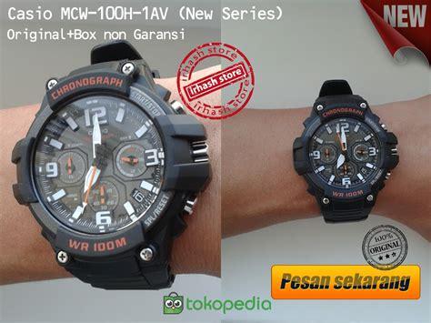 Jam Tangan Pria Original Casio Mcw 100h 9a2v jual jam tangan casio mcw 100h 1av irhash store