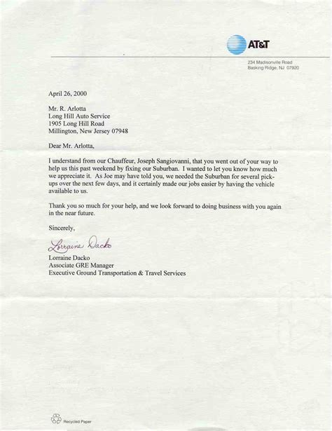 Service Thank You Letter Sle appreciation letter to employee for honesty 28 images