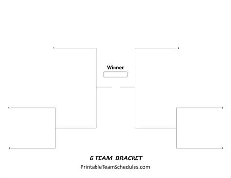 8 best images about tournament brackets free printable