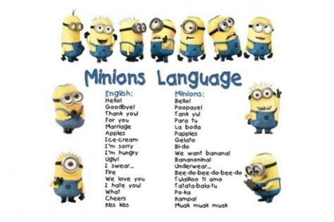 minions banana testo papoy la lingua dei minions tutt altro che parole senza