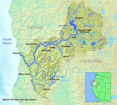 map of oregon house ca klamath river basin anewscafe