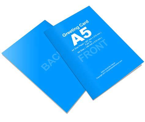 a5 size card template bi fold a5 size greeting card script photoshop