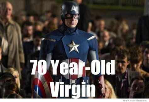 Captain America Meme - captain america 70 year old virgin weknowmemes