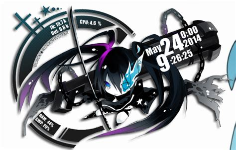 black rock shooter rainmeter skin vocalova black rock shooter rainmeter skin