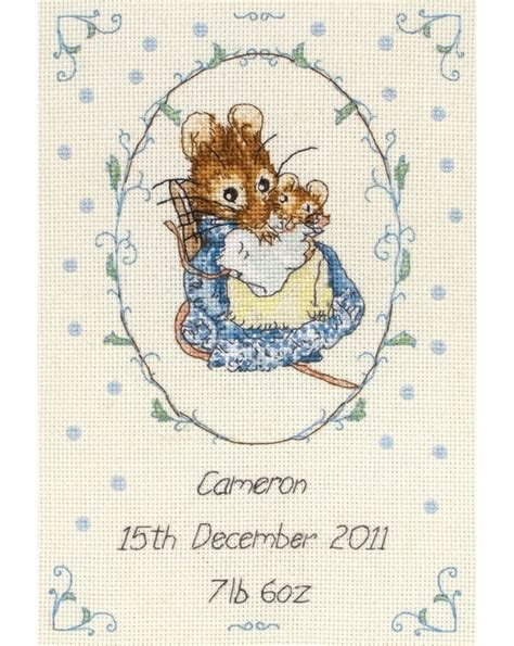 Birth Record Cross Stitch Kits Hunca Munca Birth Record Cross Stitch Kit Cross Stitch Anchor Jc219