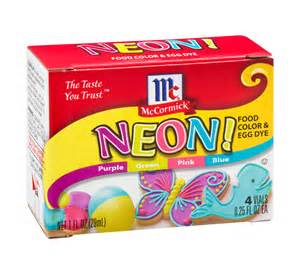 neon food coloring mccormick neon food color and egg dye