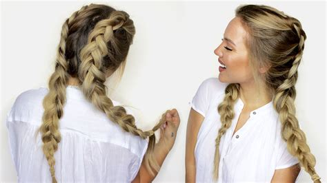 how to do braid own hair yourself with yarn for older women how to do double dutch braids with hair extensions youtube