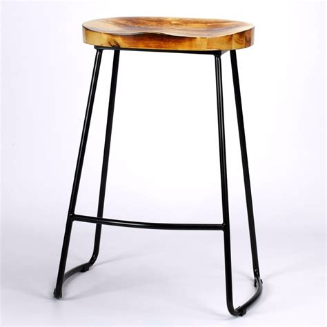 wooden bar bench industrial tractor seat style metal bar stool furniture