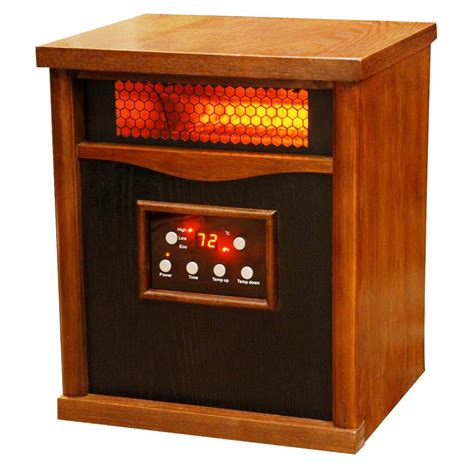 large room heater lifesmart pro large room heater with 6 infrared quartz elements