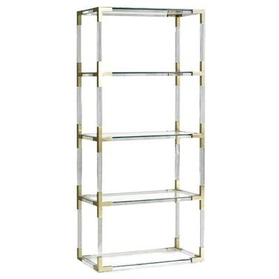 Etagere 90 Cm Largeur by Beech Brass Bookcases Perigold