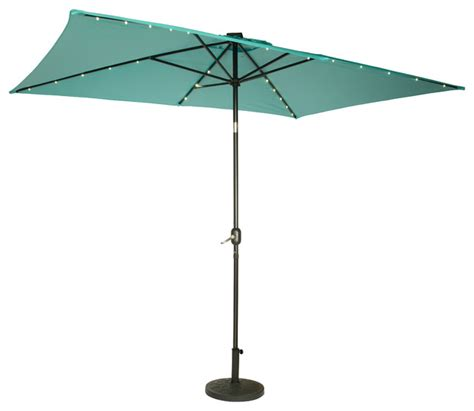 Lighted Patio Umbrellas Rectangular Solar Powered Led Lighted Patio Umbrella 10 X6 5 Contemporary Outdoor