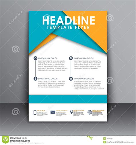 material design leaflet flyer in the style of the material design stock vector