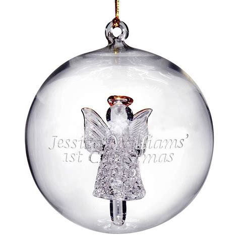 personalised glass bauble the lavender tree