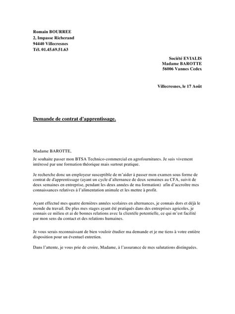 Lettre De Motivation Pour Cfa Banque Modele Lettre Motivation Technico Commercial