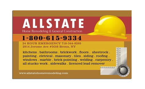 builders business cards designs templates construction business card template business