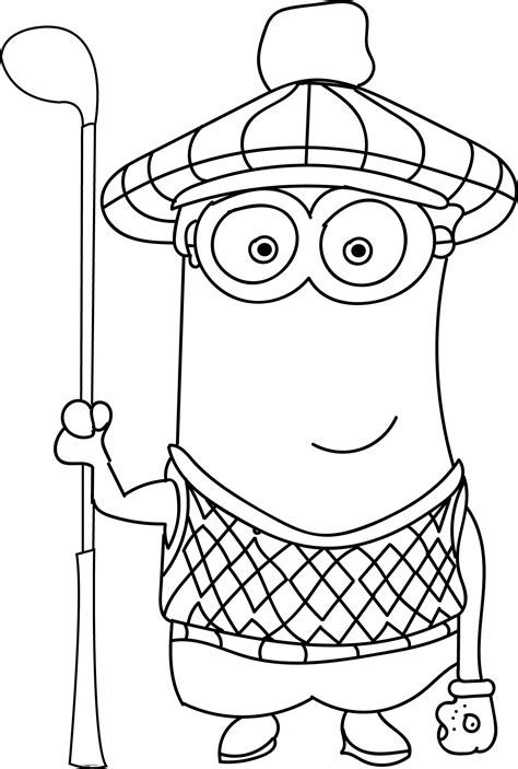 minion golfer coloring page minion coloring pages coloring pages