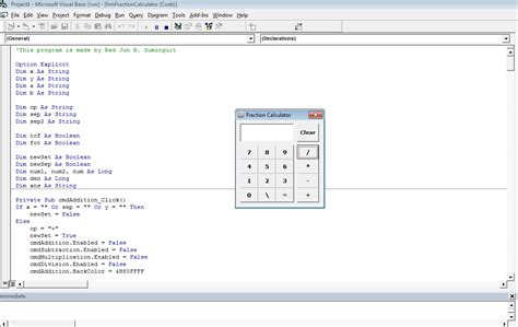 calculator visual basic fraction calculator using vb6 intelligentyou