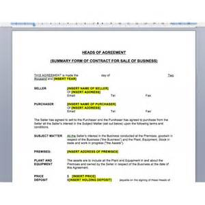 Heads Of Agreement Law4us Agreement Template