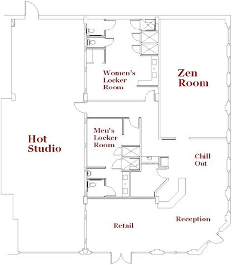 yoga studio floor plan studio floor plan except studio room should be a variable