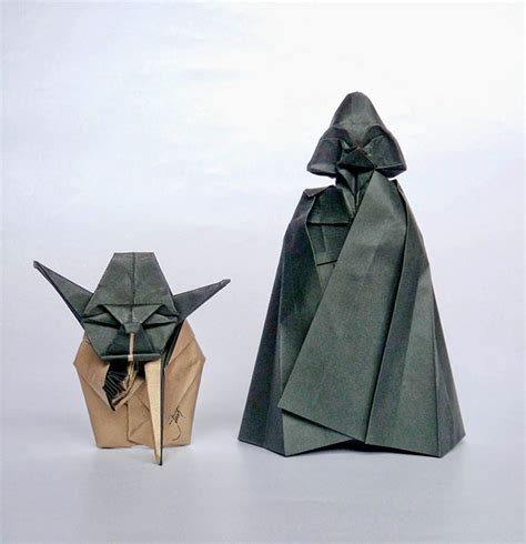 How To Make Origami Darth Vader - yoda and darth vader origami bored panda
