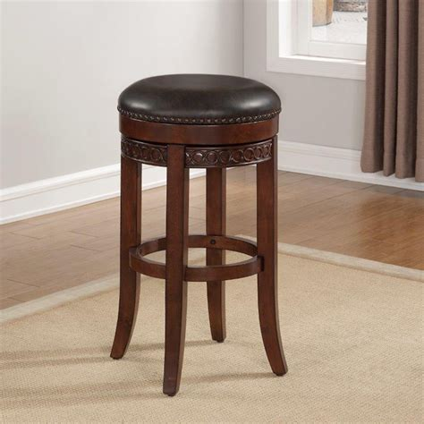 Cherry Backless Counter Stools by Conrad Backless Counter Stool Cherry Roast Bonded
