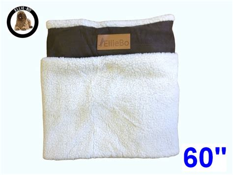 Bedcover Jumbo 300x250 ellie bo jumbo 60 inch replacement brown bed cover with faux suede and sheepskin topping