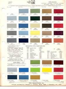 Buick Paint Codes Paint Chips 1975 Buick Century Lesabre Electra Riviera