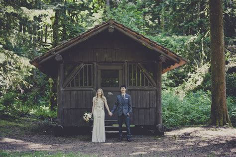 Silver Creek Falls Cabins by Nick S C Wedding At Silver Creek Falls