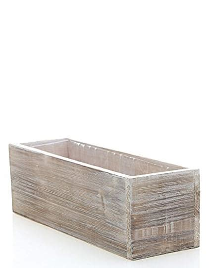 Whitewashed Barnwood Planter 12x4 Hard Plastic Liner Plastic Liners For Planters