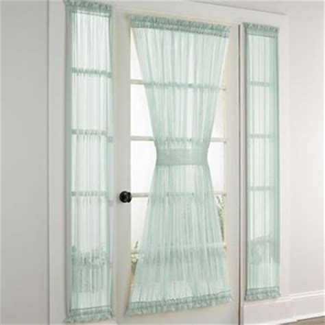 jcpenney sidelight curtains lisette sheer door and sidelight panel jcpenney around