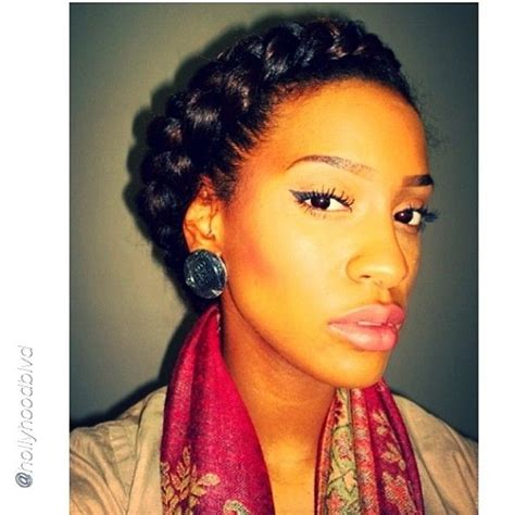 halo crowngoddess braids on natural hair black girl with luv your halo braid hair pinterest natural afro and