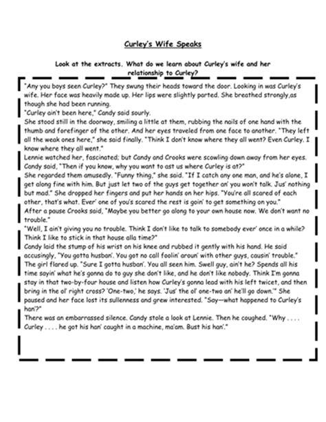 Of Mice And Worksheets by Of Mice And Worksheets By Hanslikefeet Teaching