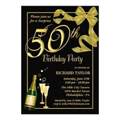 50th birthday card template blank 50th birthday invitations templates drevio