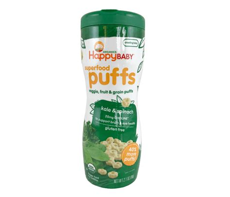 jual happy baby superfood puffs bayam kale bebas gluten