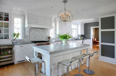gray countertops contemporary kitchen benjamin chelsea gray normandy remodeling