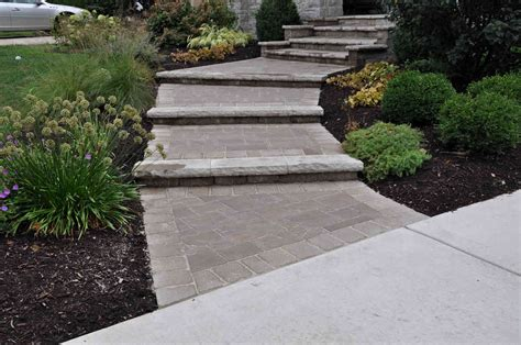 Stairs Designs For Home Yorkville Hill Landscaping Walkways Gallery
