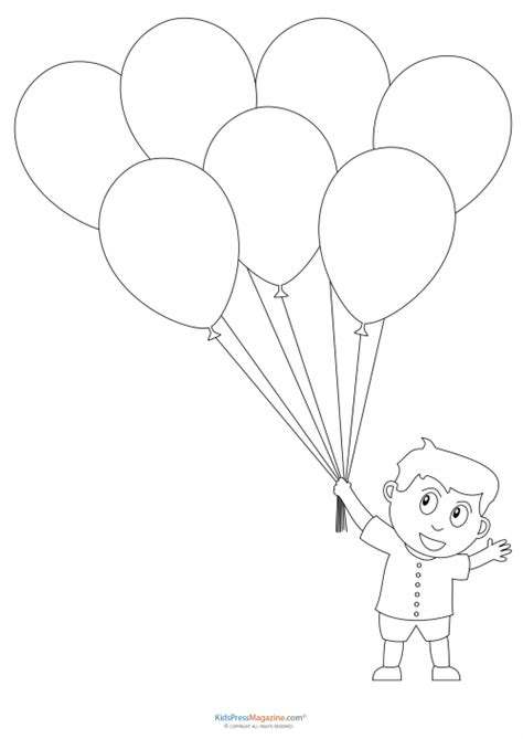balloons coloring pages preschool balloon bunch coloring page coloring pages