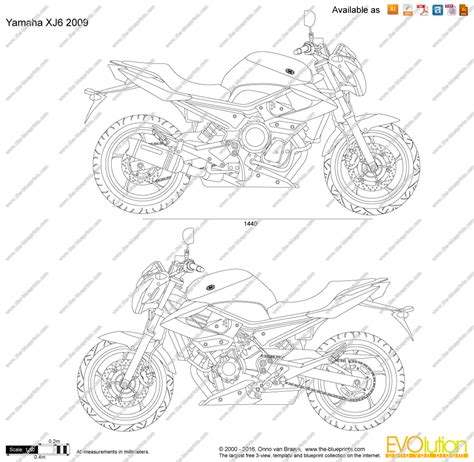 Scale Drawing Online the blueprints com vector drawing yamaha xj6