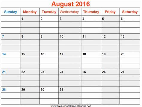 2016 Calendar Printable Excel