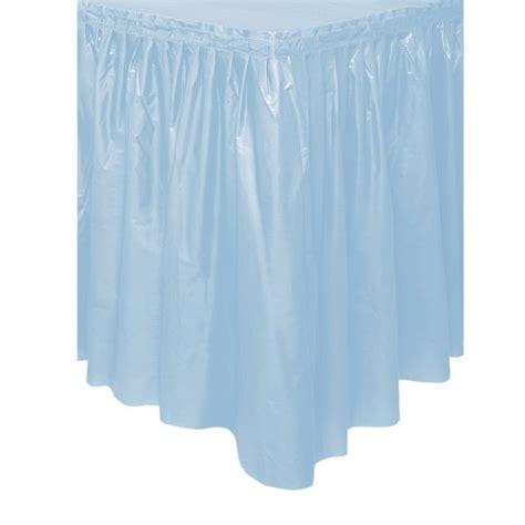 baby blue plastic table skirt
