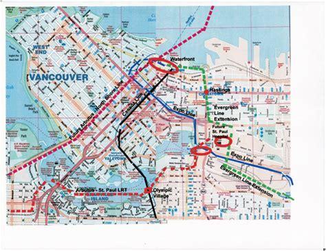 canada line map canada line transport bc