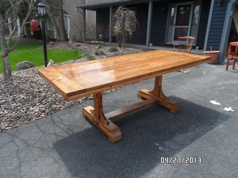 pedestal trestle dining table ana white
