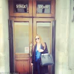 Lindsay Lohan Reads Something Familiar by Lindsay Lohan Finally Returns To Work As She Attends