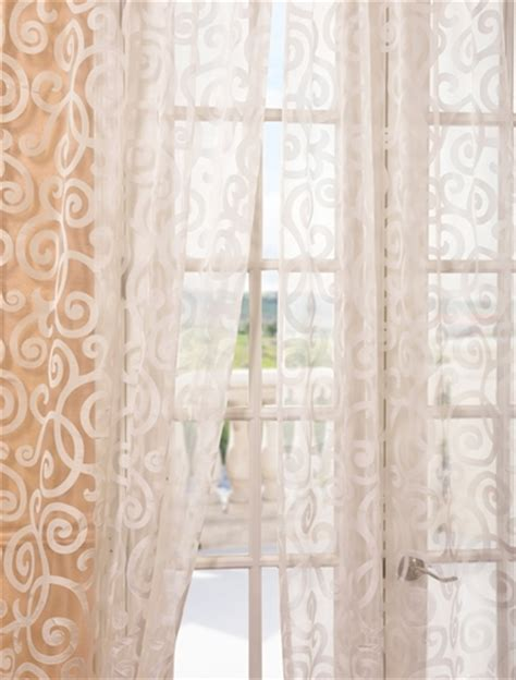 Sheer Patterned Curtains Marietta White Patterned Sheer Curtains Drapes