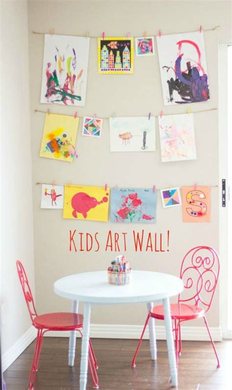 10 diy kids art displays to make them proud kidsomania the 11 best kids art display ideas the eleven best