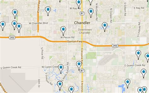 map of chandler arizona chandler real estate chandler homes for sale chandler