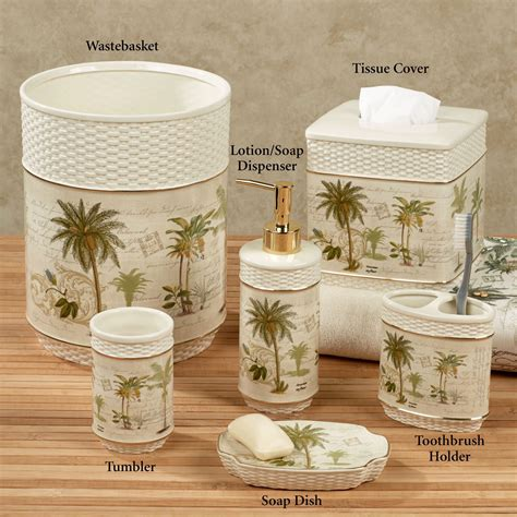 tropical bathroom accessories colony palm tree tropical bath accessories