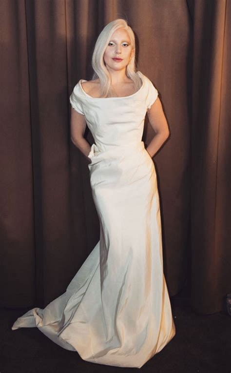 Dress Gaga gaga poses in white vivienne westwood dress should this be wedding dress arabia